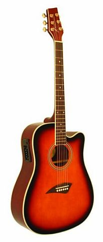 Kona Dreadnougt Cutaway Acoustic Electric 10yr Warranty