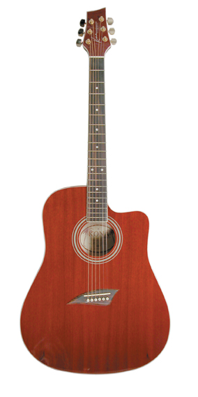 Kona Full Size Cutaway Acoustic (Red) w/10yr warranty