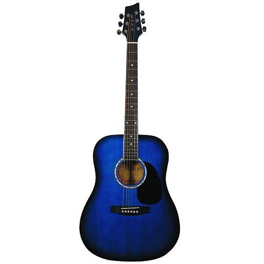Kona Full Size BlueBurst Guitar w/10 yr warranty