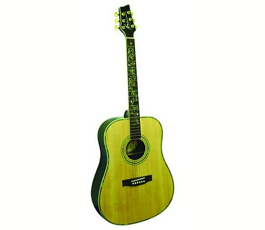 Kona Gold Series Dreadnought Guitar with Vine Inlay